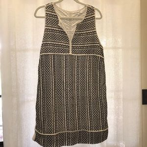 Madewell black & cream dress